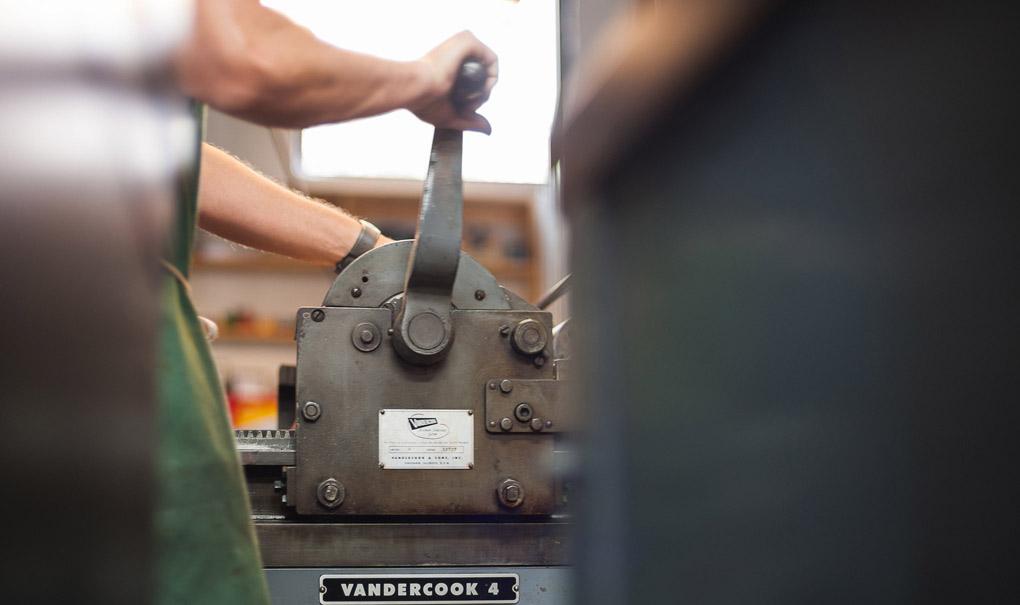 Letterpress Vandercook hand crank